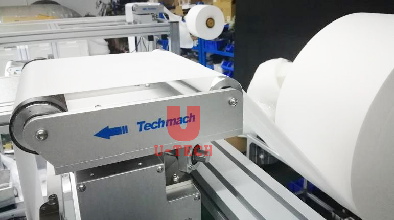 Full automatic tie on one time forming high speed 3ply 4ply face mask making machine