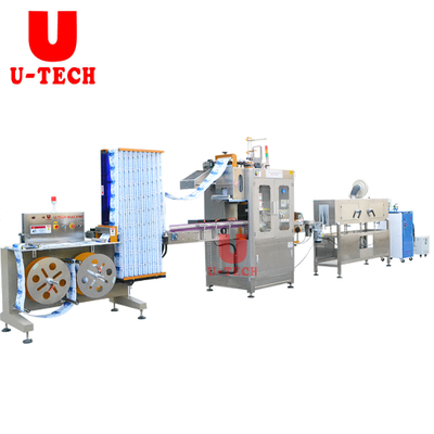 Automatic High Speed PET Bottle PVC Sleeve Labeling Machine Line
